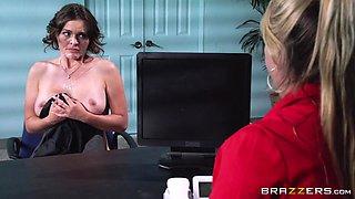 Big Tits at Work: Testing Her Concentration. Krissy Lynn, Johnny Sins