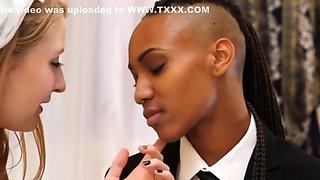 White Bride is Ass Licker for Her Black Lesbian Lover