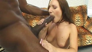 Oversized black rod drills innocent pussy of Gen Padova in unmercifully