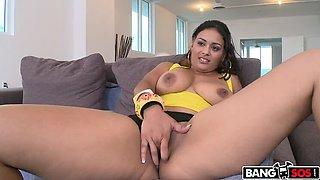 Latina girl has tits and ass