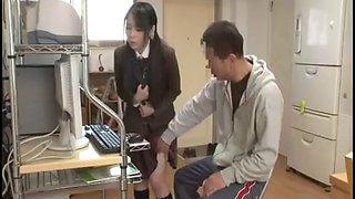 Private teacher fucks japanese school teen and mom