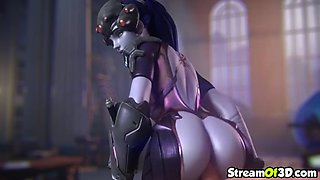 Hot blonde 3d mercy riding and getting doggystyle