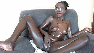 African Teen Student Naked in Webcam