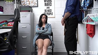 Spy cam in the office a security guard fucking thief Vanessa Sky