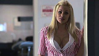 Mind-blowing rear banging with busty blond nurse Nikita Von James