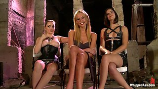 Exotic lesbian, fetish porn movie with crazy pornstars Bobbi Starr, Victoria White and Aiden Starr from Whippedass