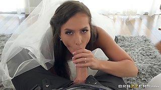 slutty bride kelsi monroe deepthroats massive rod