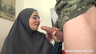 July Di Maggio - Muslim Milf Pays For Service With Her Body