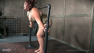 This sexy BBW with a big ass is completely helpless to her master's plans