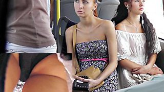 The superlatively very good of steamy bus upskirts