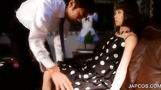 Japanese sex doll gets stripped for sex