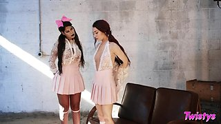 Tall curvy MILF Bridgette B loves younger women and she is into scissoring