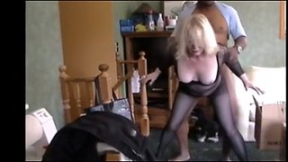 Blonde mature wife get fucked by bbc and hubby watch