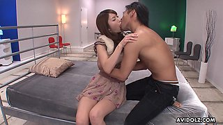 Hot and alluring Japanese girl Melia Rika enjoys pounding from behind