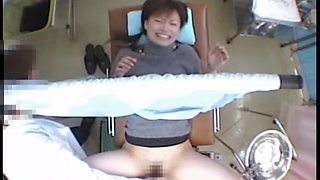 Sexy Asian investigated by her doctor on a spy camera