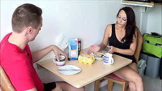 Rough Anal for Skinny German One Night Stand Teen in kitchen