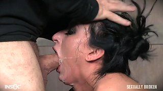 bound latina slave cums while being dominated