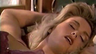 Two classic sexy blonde babes indulge in lesbian quickie