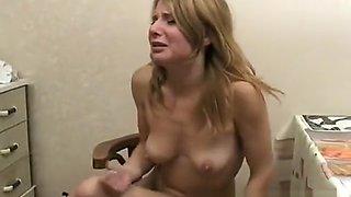 Ira sucks his prick and fucks, then gets so drunk she barfs in the toilet