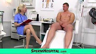 Maya a sexy doctor MILF got hot stockings legs
