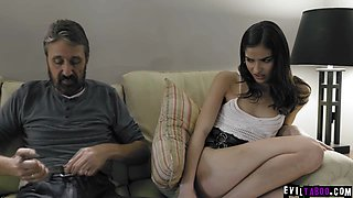 erotic spanks and disciplines his 18 yo stepdaughter!