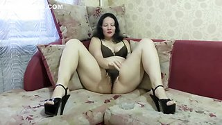 Girl Smokes And Masturbates Pussy In Panties