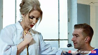 Bodacious physician Georgie Lyall gets intimate with one of her patients