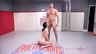 Lydia black mixed nude wrestling fight and fuck