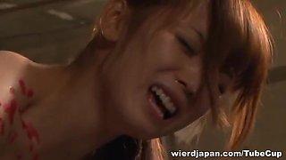 Fuuka Nanasaki Asian lesbian enjoys bondage and toys