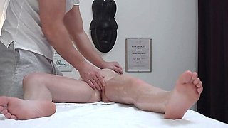Teen Hottie Cheating BF on our Massage Table