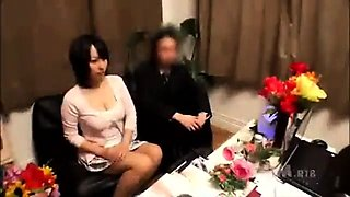 Big breasted Japanese hottie gets massaged and fucked good