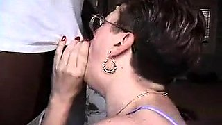 Naughty mature wife with glasses is addicted to black cock