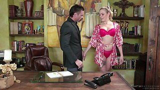 Mercedes Carrera and her assistant provide one client with the best ever nuru massage