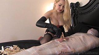 Mistress Eleise de Lacy & Slave in Mummification - KINK