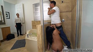 Midget anal Lexy Bandera gets her pipes cleaned by a hefty cock