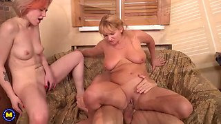 Family sex with mother and daughter