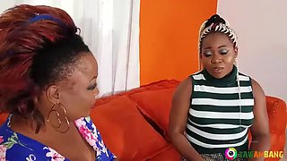 African BBWW fucked by a young guy