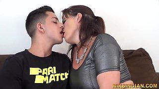 Angry Son Sucks Big Boobs Of Stepmom And Fucks Her
