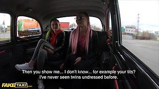 Identical Sisters Lady Zee & Sandra Zee Fuck Euro Cabbie