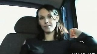 Rod addicted bitch likes her fucking trip in a gang bang bus