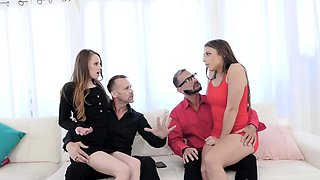 Stepdads giving their stepdaughters some lusty pleasure