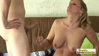 Dirty mom tries out not her daughter's boyfriend's cock