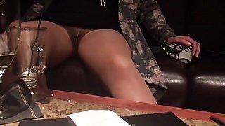 Pantyhose Flashing Upskirt Pussy Compilation #2