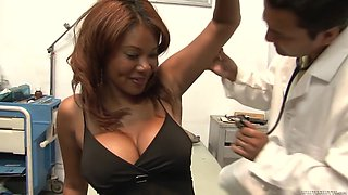 Kymora Lee fucks the doctor in front of her husband!