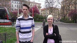 Slovakian couple fuck for money