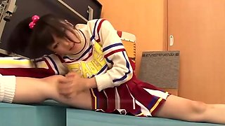 Japanese flexible college girl wants to cum