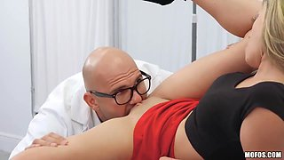 J Mac And Athena Faris In Bald Doctor Fucked In His Office