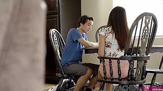 Talkative sexy nympho Eva Long can think only about riding dick
