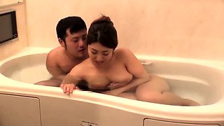 Stacked Japanese wife indulges in hardcore cuckold fucking