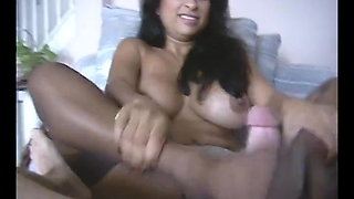 Hot Indian lady stockings footjob